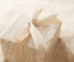 lacey package- cut doilies from vellum?