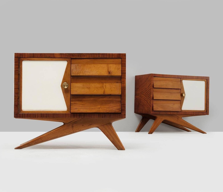 melchiorre bega pair of nightstands nightstands midcentury modern