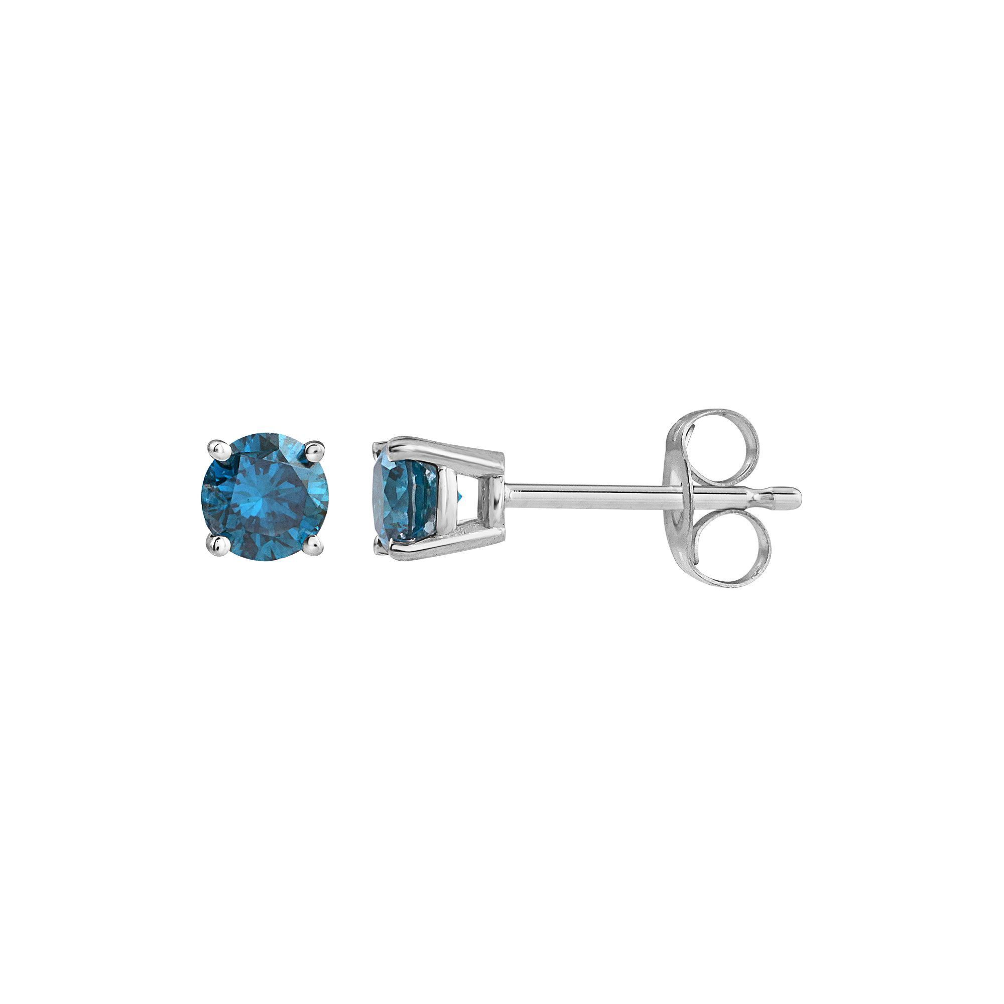 orders product blue earring db tdw free overstock single watches sterling shipping jewelry over stud diamond silver on designs
