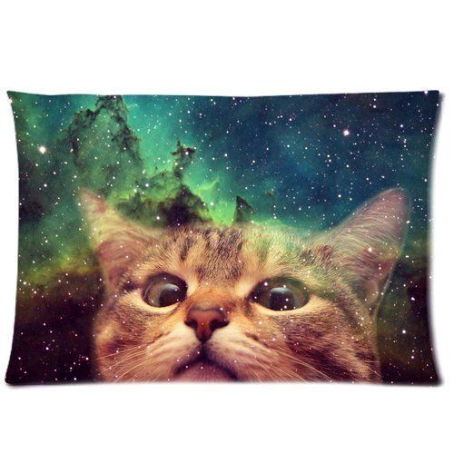 Cat Galaxy Space Custom Zippered Pillowcase Pillow Cases Cover 20x36 Inch (twin sides) Basidfs http://www.amazon.com/dp/B00Y35UB7A/ref=cm_sw_r_pi_dp_K8rxwb0K18N2Q