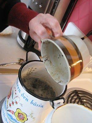 The Pickled Herring Swedish Egg Coffee Tutorial Egg Coffee Swedish Recipes Swedish Treats