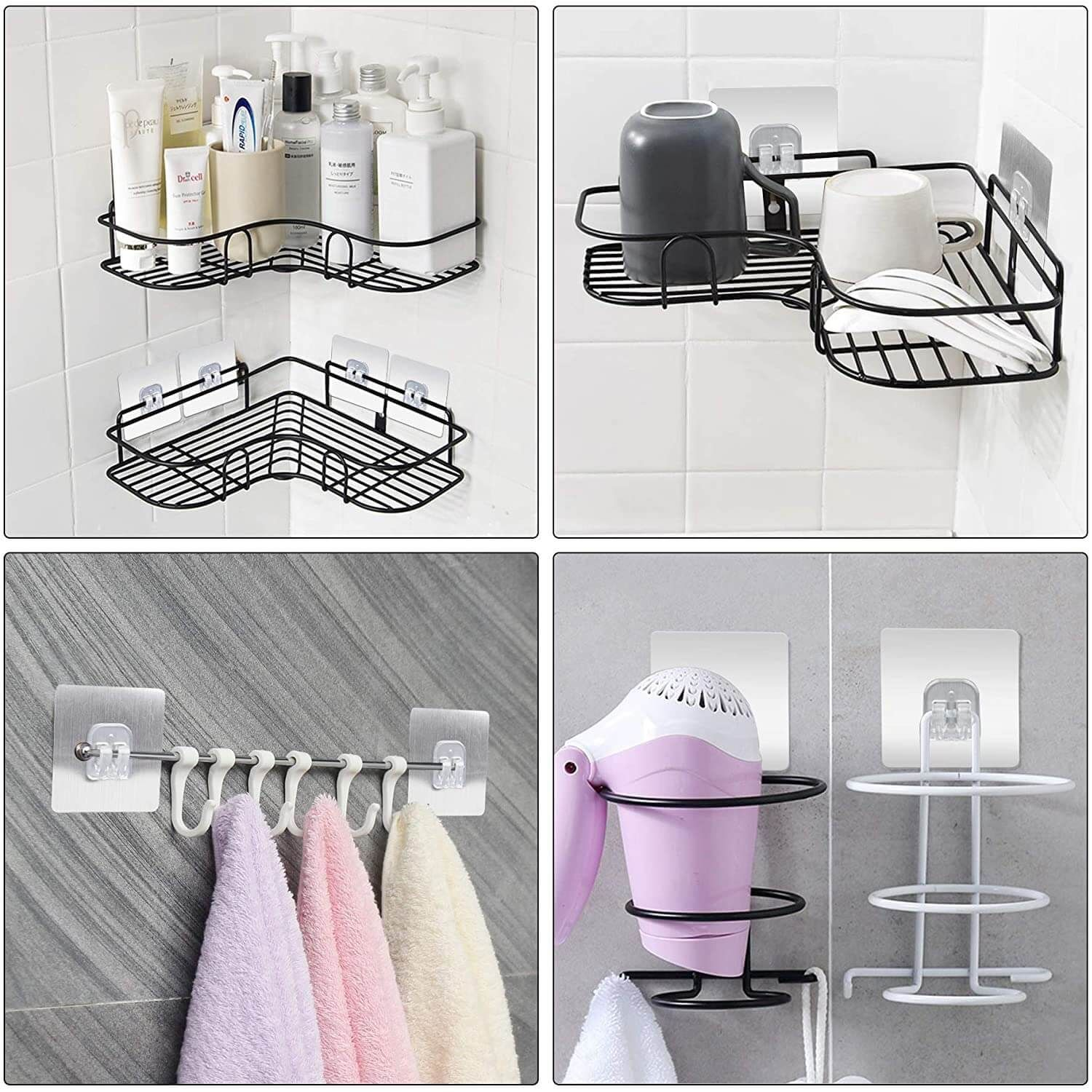 Photo of Adhesive Wall Hooks For Shower Caddy (1 Set)