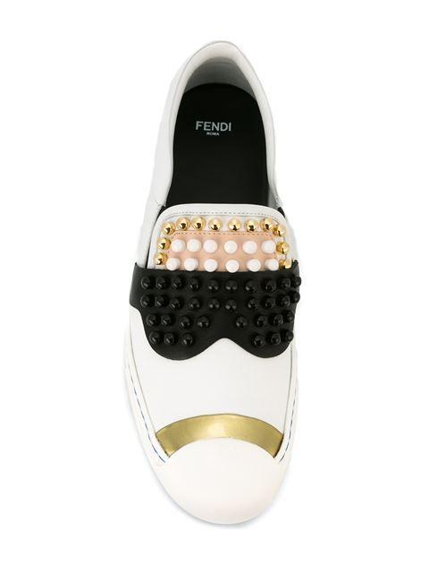 Fendi Karlito Slip-On Sneakers IBvjb4wW1a