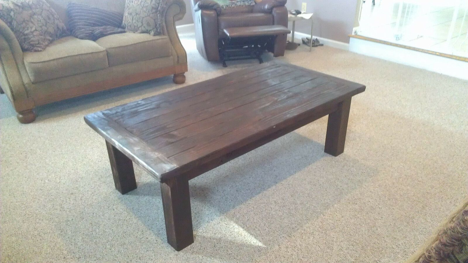 - Red Mahogany Farm Style Coffee Table - Rustic Table - Ideas Of Rustic Table  #rustictable #table - Red Mahogany … Rustic Table, Coffee Table, Coffee  Table Prices