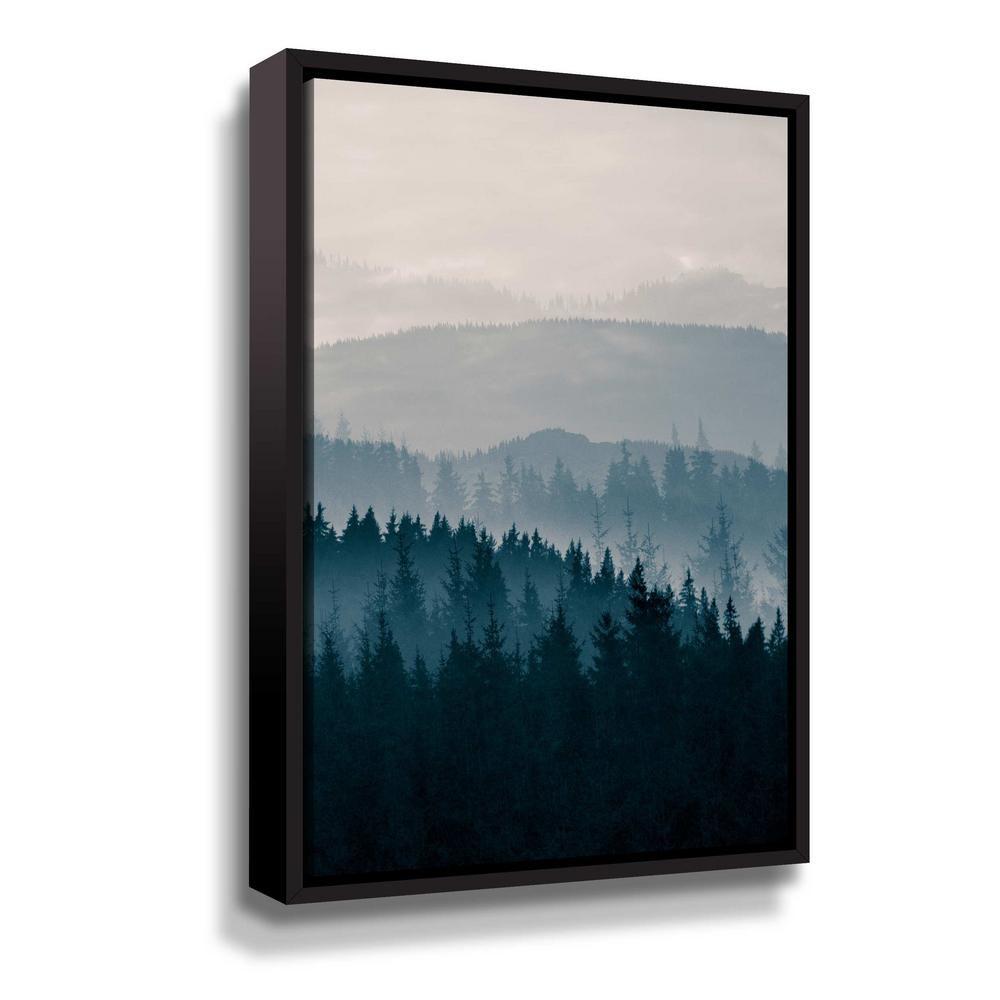Artwall Blue Mountains Ii By Photoinc Studio Framed Canvas Wall Art 5pst233a2436f The Home Depot Cabin Wall Art Scenic Wall Art Canvas Art Decor