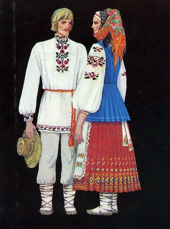 История украинского костюма-в картинках