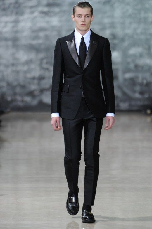 b0f42270339 Men In Black, by Yves St Laurent I love YSL. I am just going to put this  out there. I LOATHE tight skinny penguin suit pants. I think they look  absolutely ...