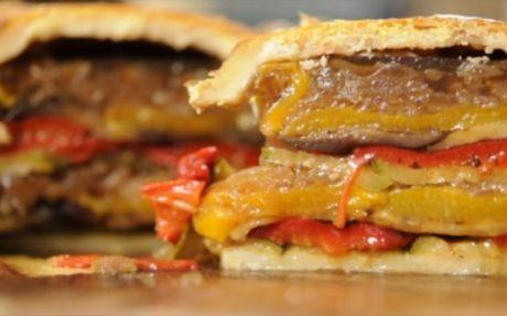 Mediterranean Grilled Vegetable Pie Recipe by Andy Bates (veg hot water crust pastry)