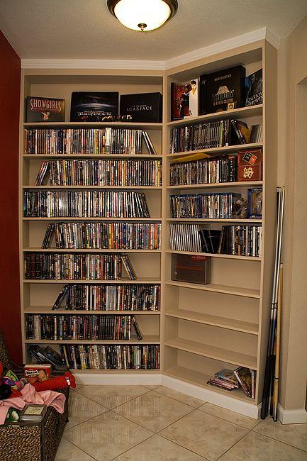 Merveilleux DVD Shelving Ideas