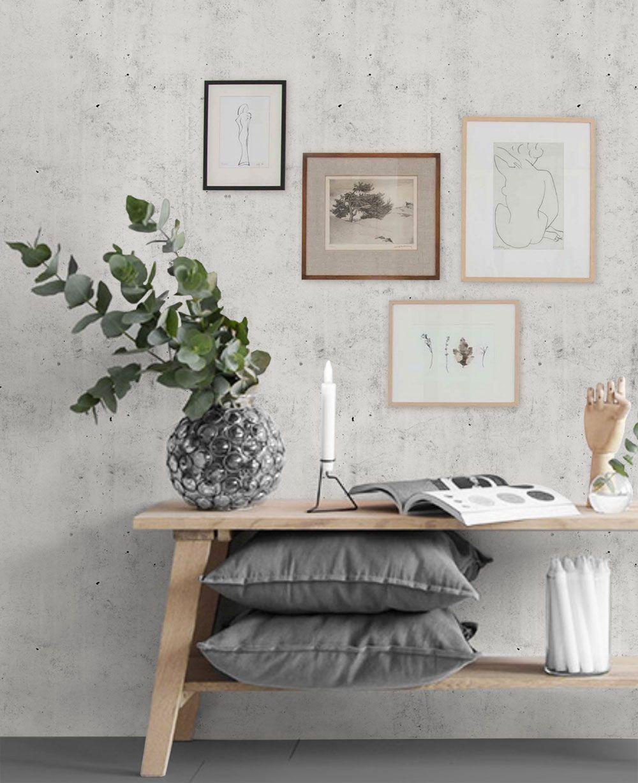 Cement Concrete Wallpaper Peel And Stick Wallpaper Living Room Accent Wall Concrete Wallpaper Wallpaper Living Room