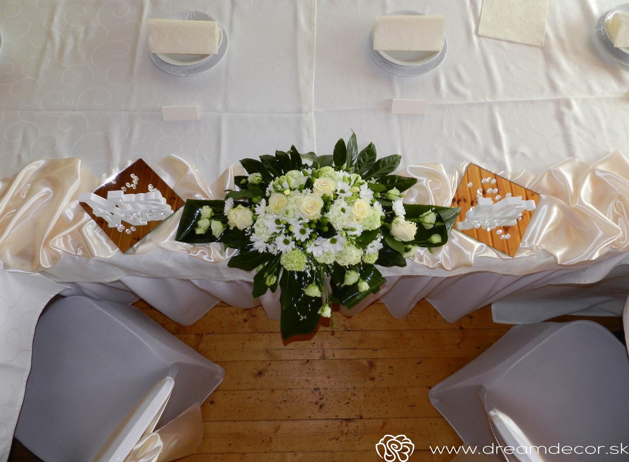 6b35d9bb5 Kvetinová výzdoba na hlavný stôl. | Kvetinová výzdoba svadby | Svadby
