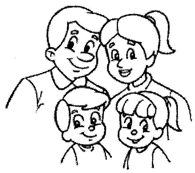 Desenhos Para Colorir Familia Para Colorir Com Imagens