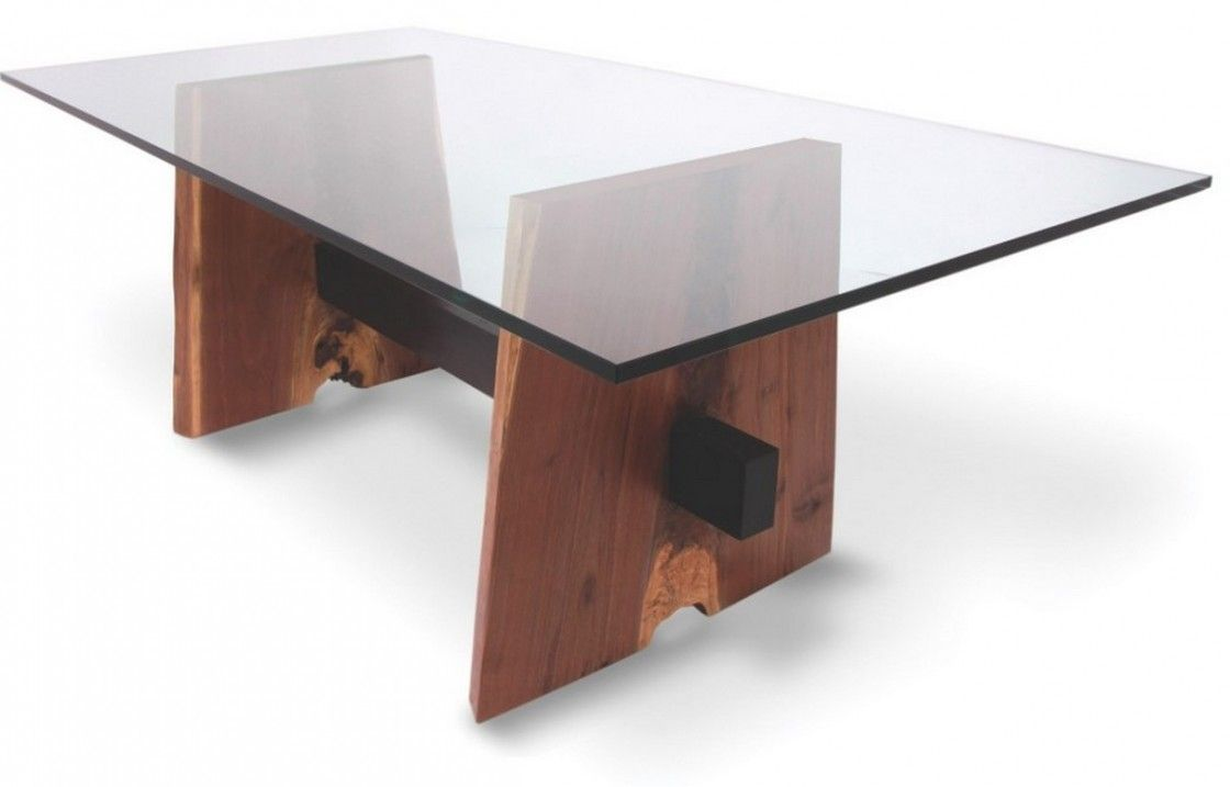 Appealing Rectangular Glass Coffee Table With Eased Edge Profile