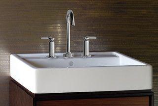 porcher solutions 24 lavatory modern bathroom sinks new york rh pinterest com Bathroom Drop in Sink Regular Bathroom Sink
