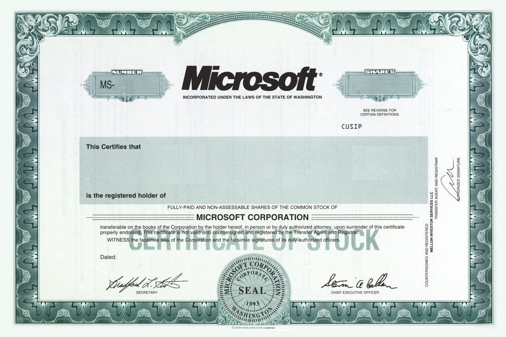 Blank Stock Certificate Template Free. Pin Stock Blank Gift ...