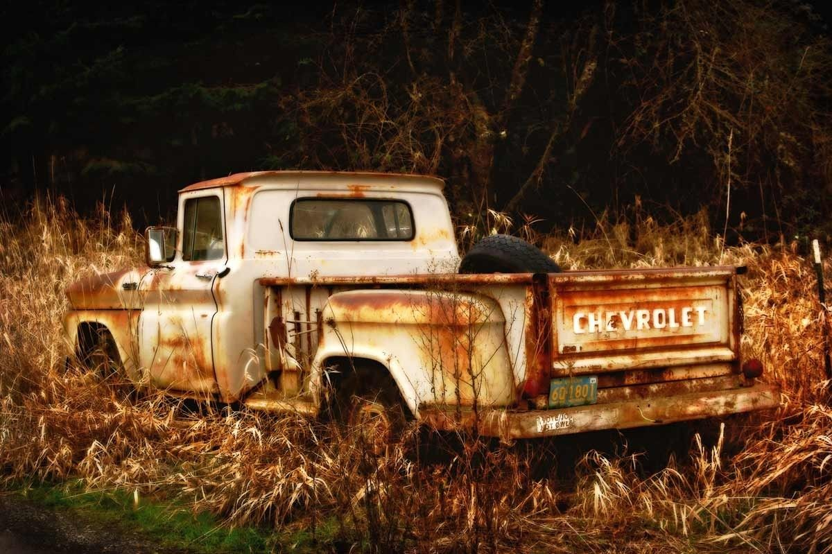 Old Rusty Truck - 8x12 Fine Art Print | Ford trucks, Rusty cars and Cars