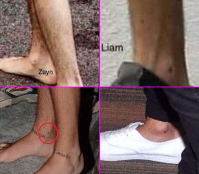 Liam Payne's Screws Tattoos on His Ankles | ONE DIRECTION ...