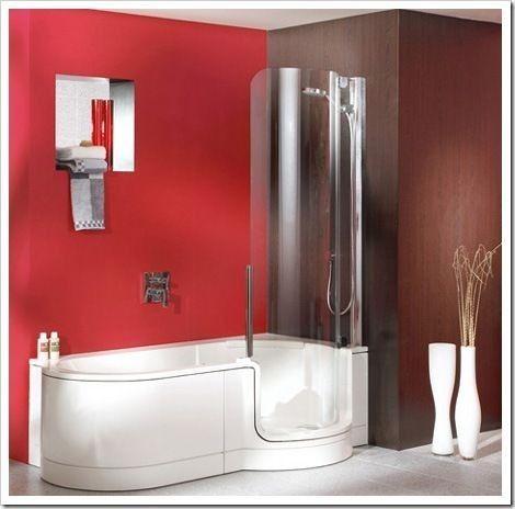 Simple idee per di un bagno piccolo vasca e doccia for Camminare attraverso la doccia alla vasca