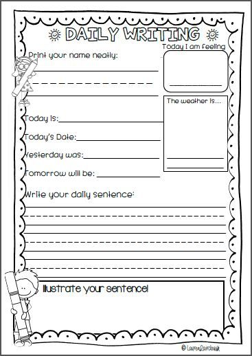 Daily Writing for Kindergarten, Pre Primary, First Grade and ...
