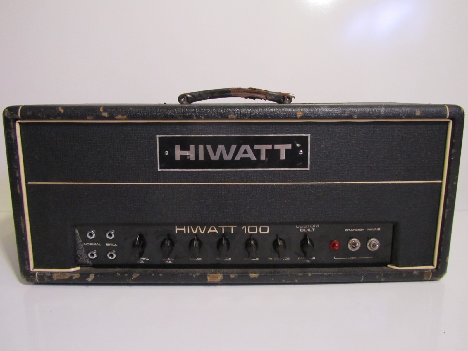 vintage 1969 hiwatt dr103 100 watt custom tube guitar n bass amp amplifier head cool vintage. Black Bedroom Furniture Sets. Home Design Ideas