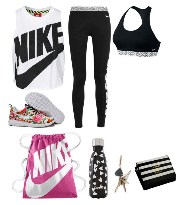 """""""Nike"""" by cece02 ❤ liked on Polyvore featuring NIKE and S'well"""