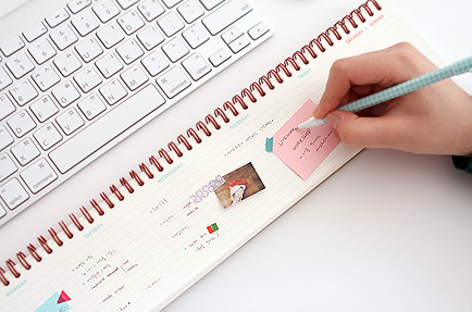 MochiThings.com: Weekly Schedule Desk Notepad
