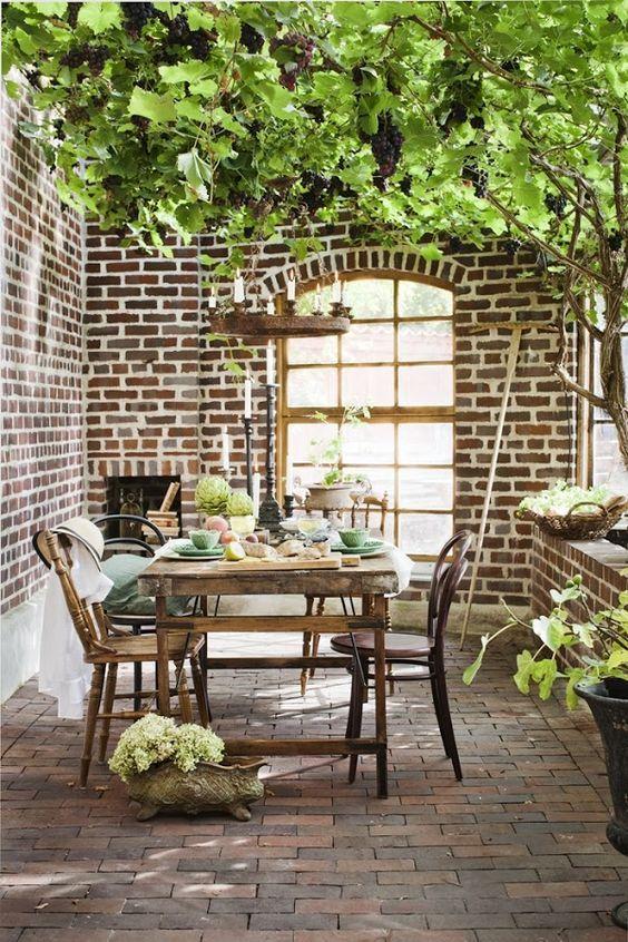 Terraza Estilo Vintage Pensata Sala De Exterior Vida Al Aire Libre Comedor Al Aire Libre