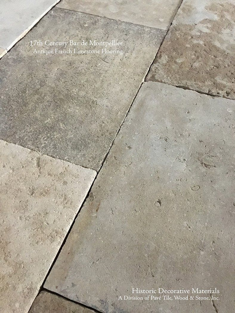 Antique 17th Century Bar De Montpellier French Limestone Flooring Limestone Flooring French Limestone Floor Stone Tile Flooring