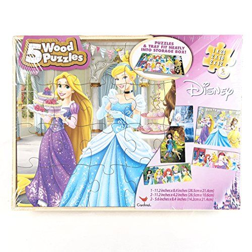 4f133bcc91ed Disney Princess 5 Wood Puzzle Set [Toy] | Amazon Top Rated Products ...