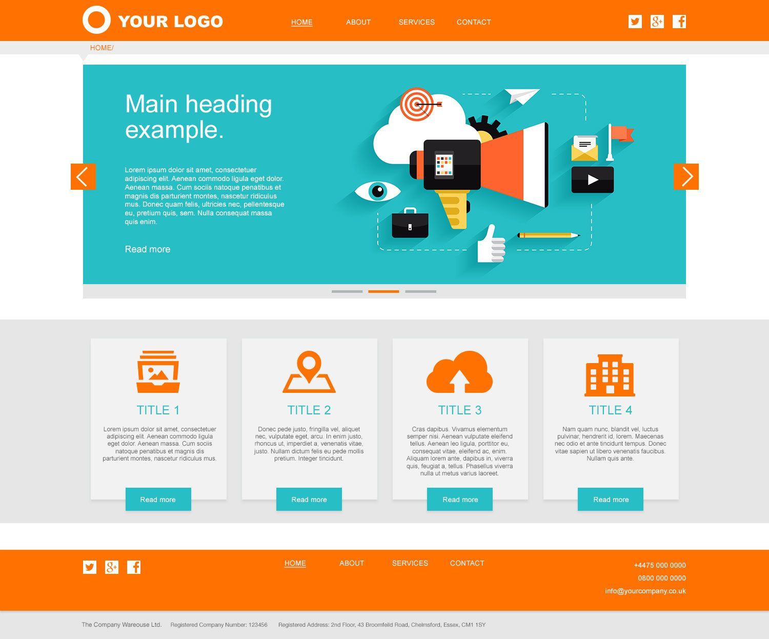 Services Website Layout 1 Homepage