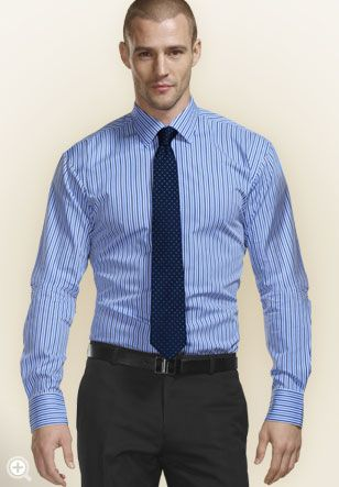 business casual for men A nice dress shirt, a pair of slacks and to top it off a nice tie