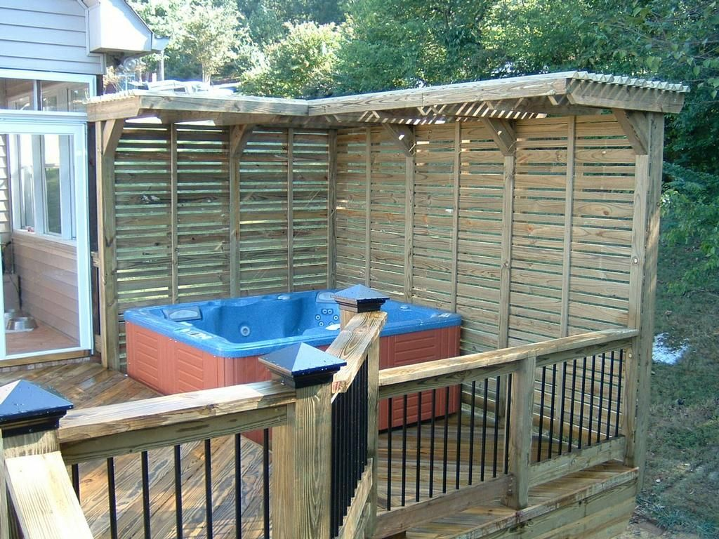 Looking For Hottub Privacy From Neighbors On Your Deck