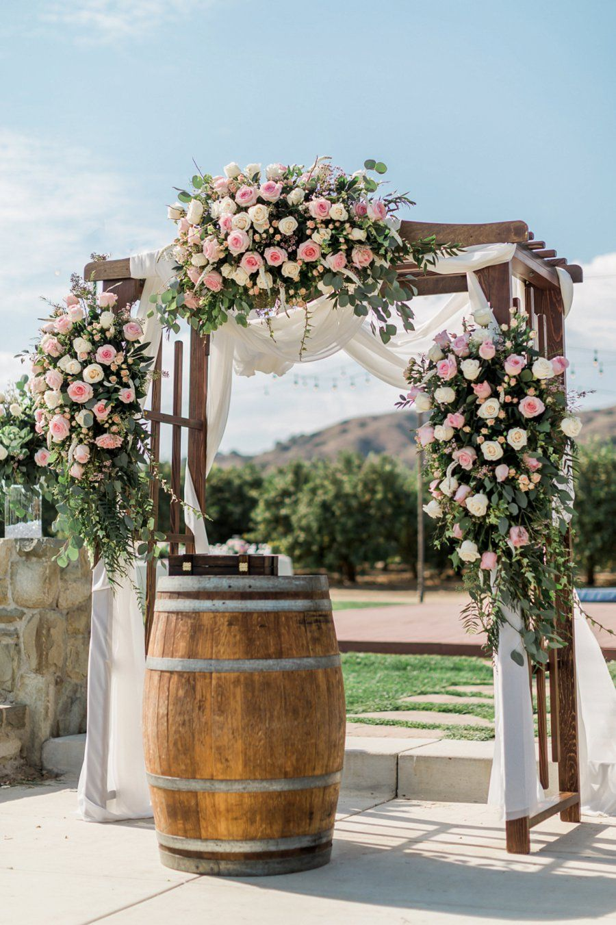 Limoneira ranch wedding photographed by ventura county