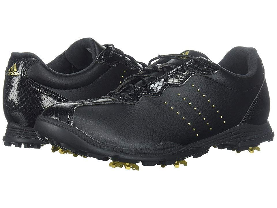 best loved d74e1 6d5be adidas Golf Adipure DC (Core BlackGold MetallicCore Black) Womens Golf