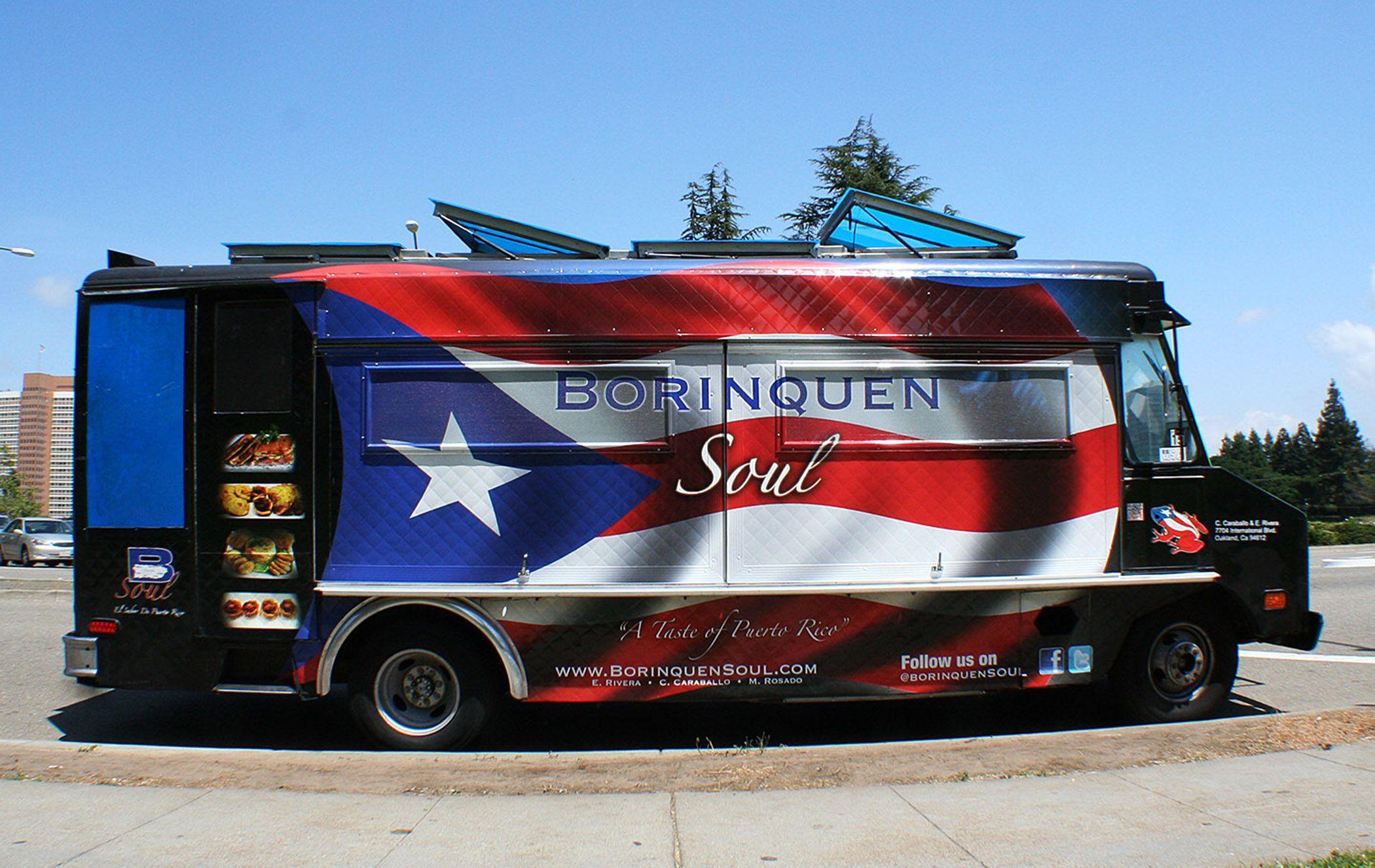 Food on wheels original mobile graphics wraps borinquens