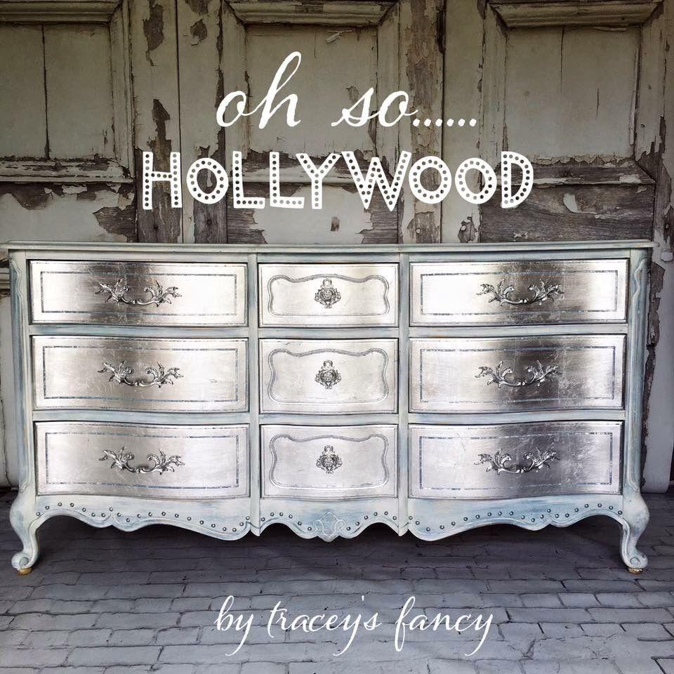 Mueble pintado de plata paint it pinterest plata pintar y muebles antiguos - Muebles pintados en plata ...