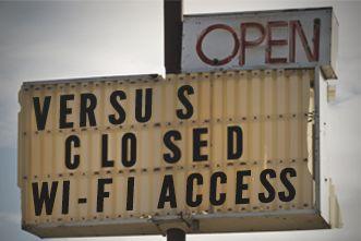 Open Versus Closed Wi-Fi Access