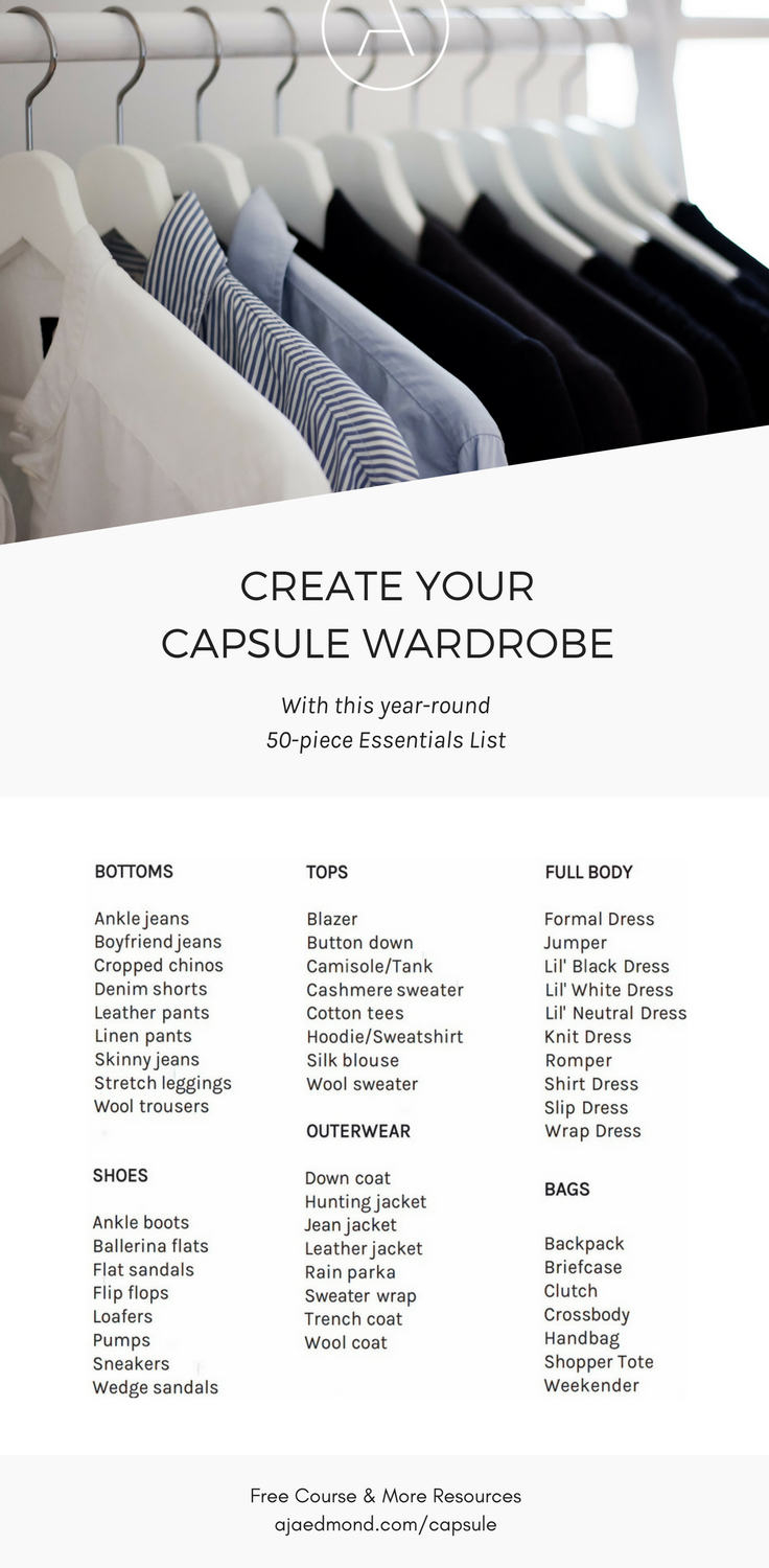 Build Your Capsule Wardrobe: The Year Round Essentials List U2014 Get The Free  E