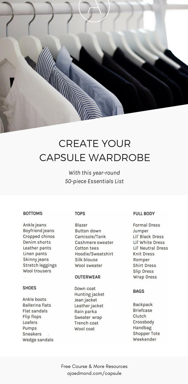 How to build a capsule wardrobe minimalist wardrobe for Minimalist essentials