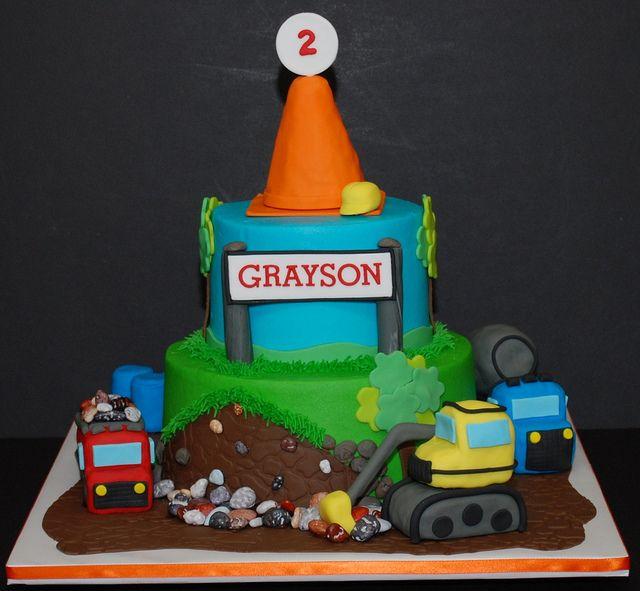 Construction Theme Birthday Cake Construction theme Birthday