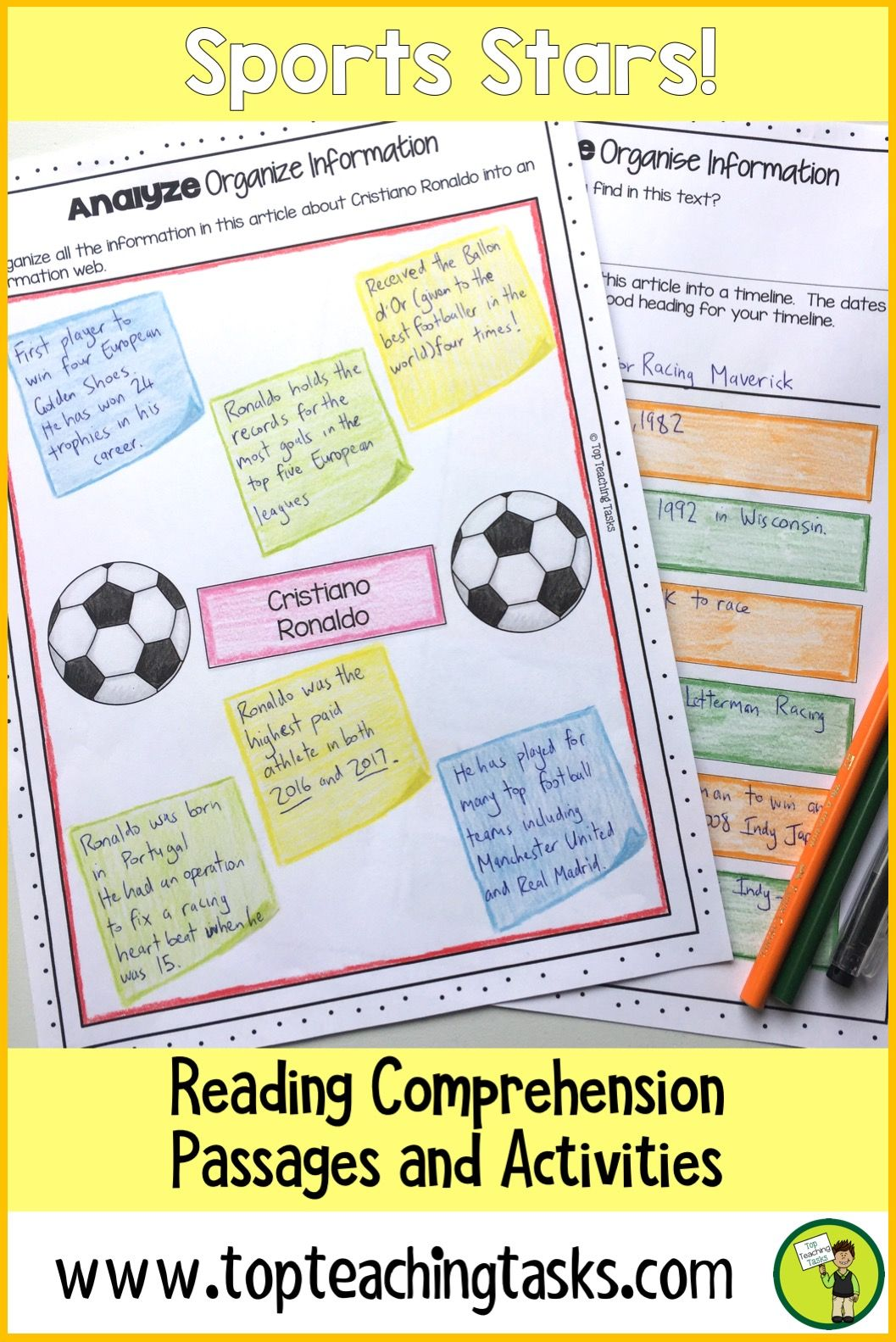 This Sports Stars Differentiated Reading Comprehension Resource Includes Seven Grad Reading Comprehension Reading Comprehension Passages Comprehension Passage [ 1583 x 1057 Pixel ]
