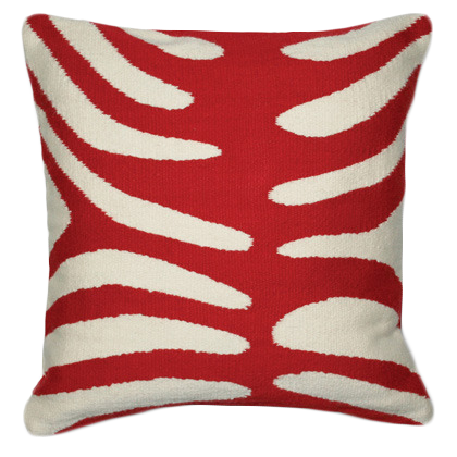Red Zebra Pillow | color at home | Red throw pillows, Modern ...