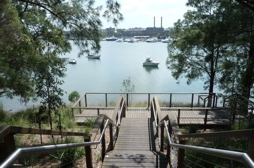 A stroll in inner-west Sydney: Glebe's Blackwattle Bay, rescued and rescusitated after timber-getting, industry and more: now a leisure landscape to take in the harbour, some replanted memories of lost-forests (as here) and more: worth a look.