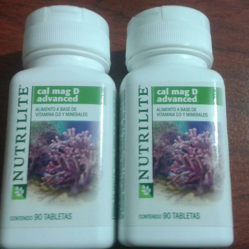 Amway Nutrilite Cal Mag D 90 Tablets Free Shipping X2 Pack