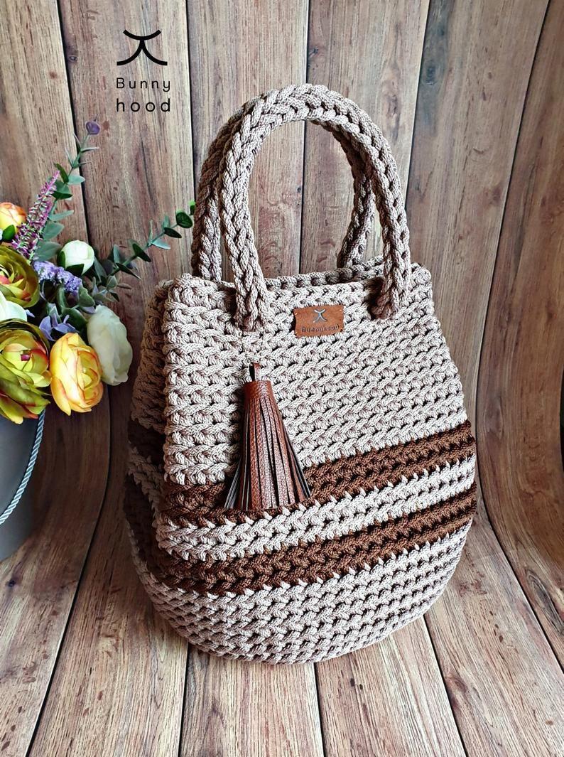 Crochet Handbag Dew Drop Shopping Bag Beach Bag Large Bag Bolso De Ganchillo Bolso De Mano De Ganchillo Cartera Tejida A Crochet