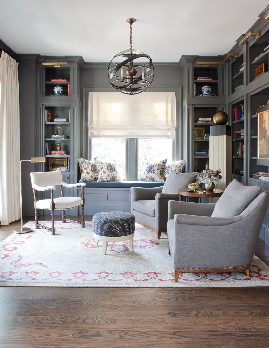 Library Study Room Ideas: Room Envy: A Sophisticated Gray Study In Ansley Park