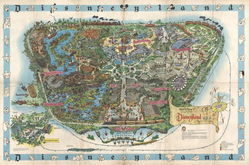 Hi rez Disneyland 1962 map Vintage Disney shauna