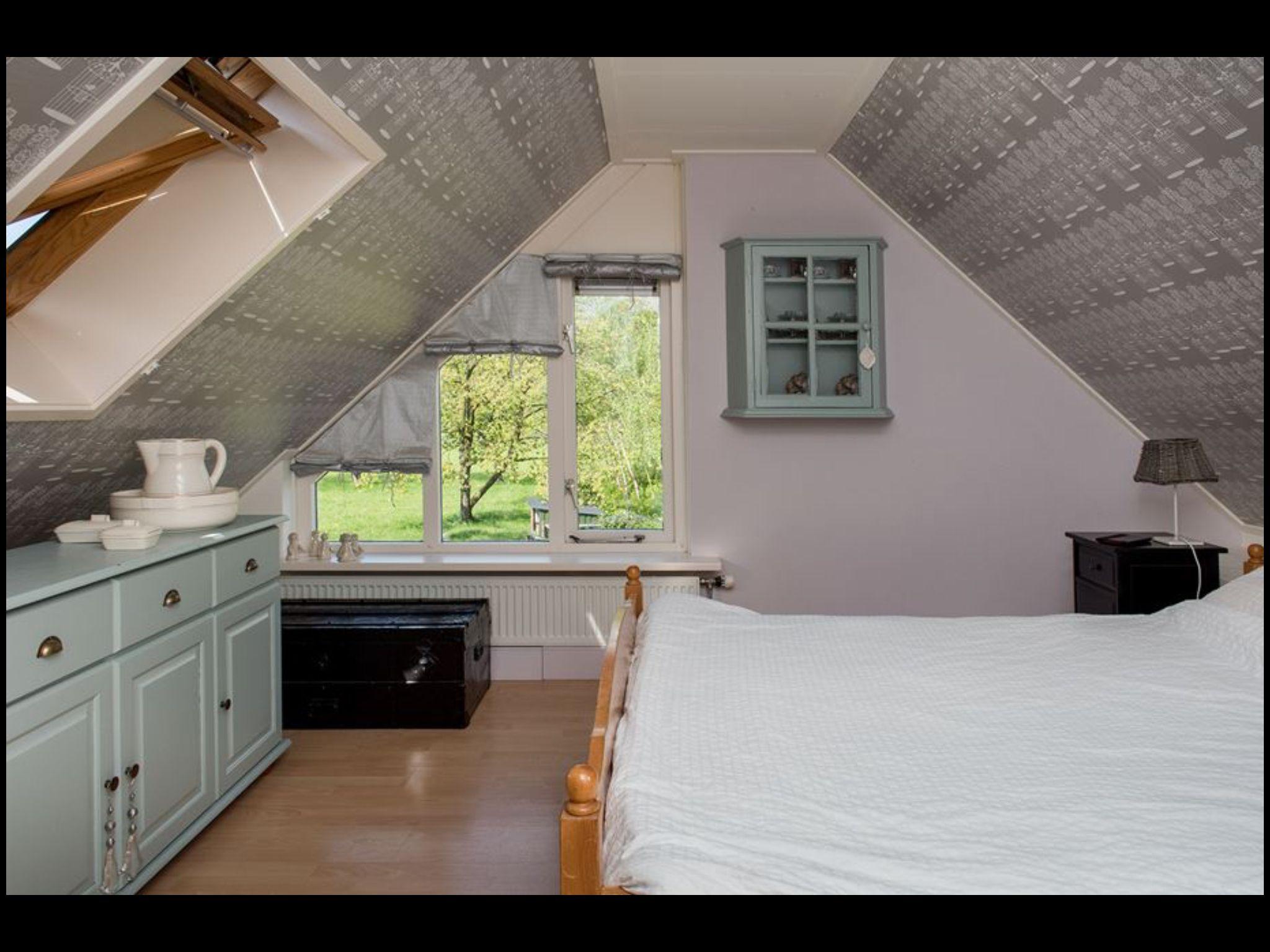 Onze slaapkamer voor dakraam in de peiling houden brummen