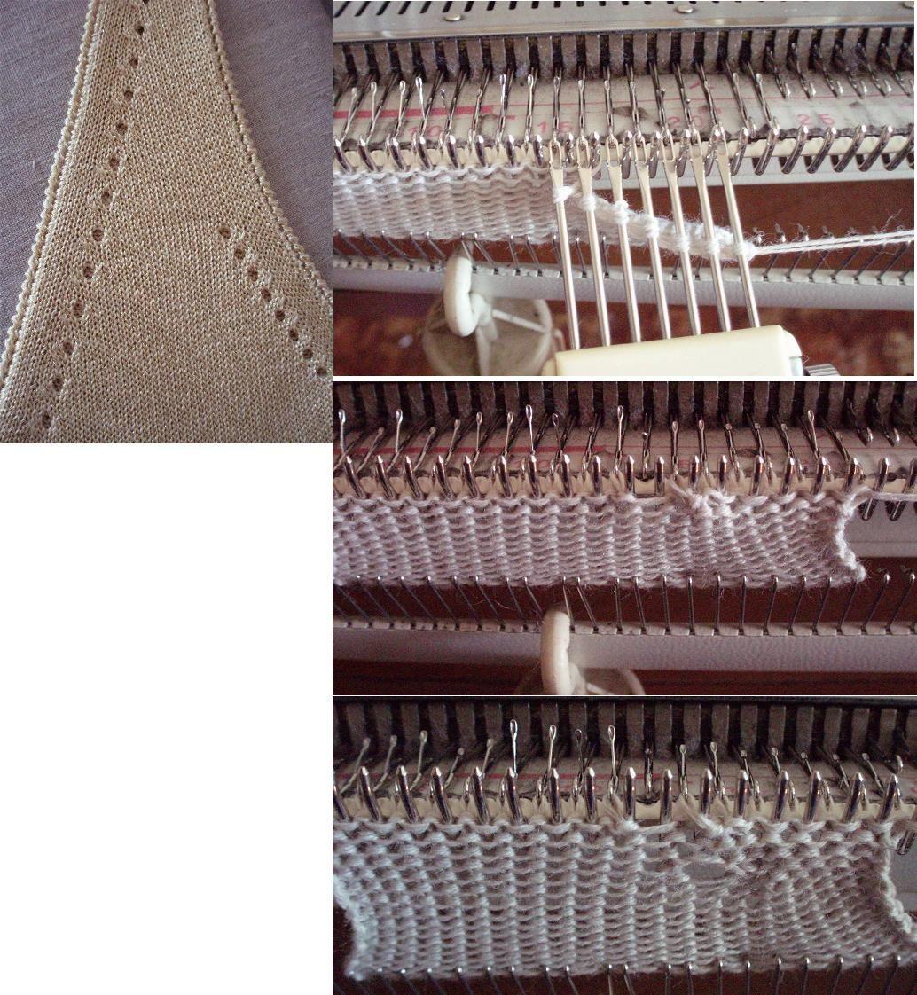 Убавки по пройме с дырочками | Машинное вязание | Pinterest | Tejido ...