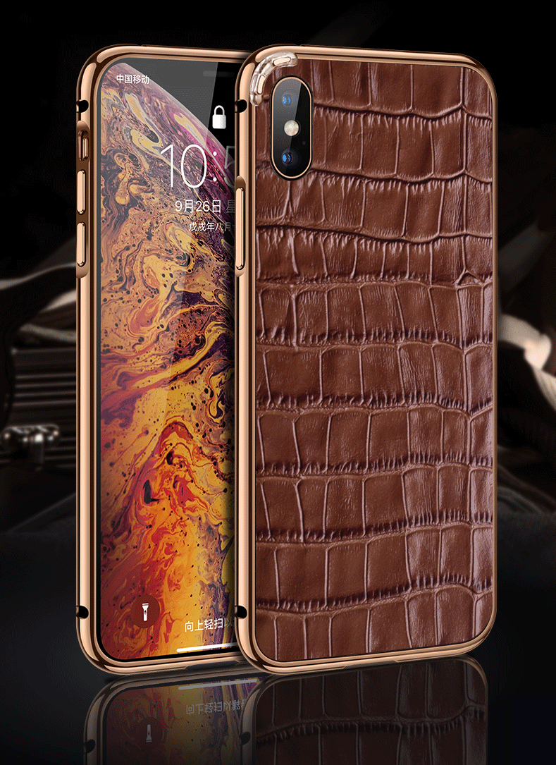 huge discount 91223 706c1 Crocodile Skin iPhone Xs Max Case, Alligator Skin iPhone Xs Max Case ...